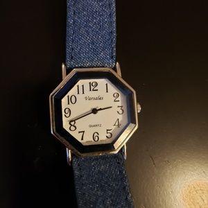 💕Denim Octagon Wrist Watch Varsales